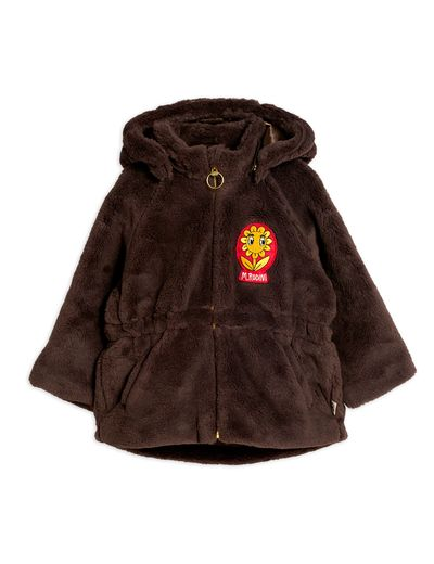 Mini Rodini - Faux fur parka, Brown