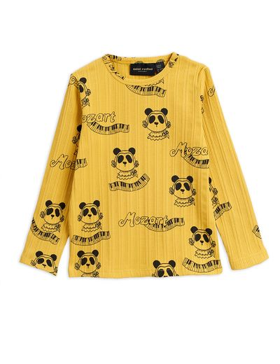 Mini Rodini - Mozart aop ls tee, Yellow