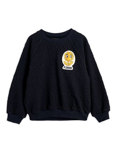 Mini Rodini - Flower patch sweatshirt, Black