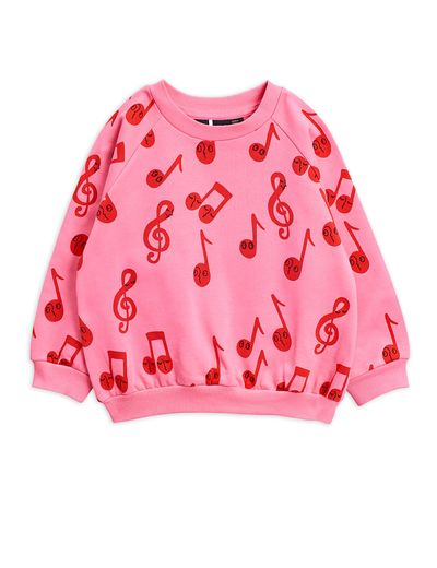 Mini Rodini -  Notes aop sweatshirt, Pink