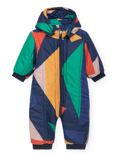 Bobo Choses - Geometric Padded Overall, Medieval Blue