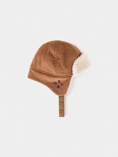 Bobo Choses -  Khaki Sheepskin Baby Hat (219278)