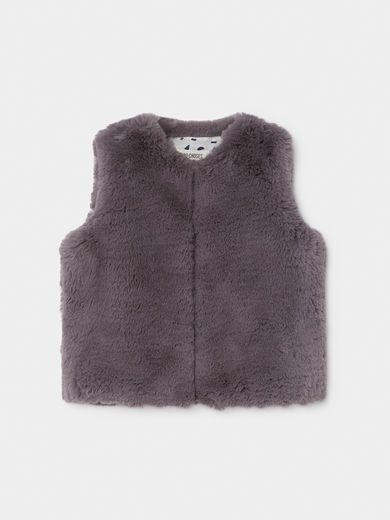 Bobo Choses - Grey Faux Fur Vest (219287)