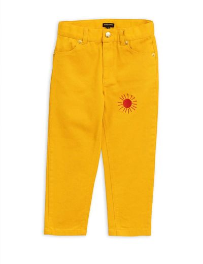 Mini Rodini - Twill jeans, Yellow