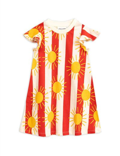 Mini Rodini - Sun stripe aop wing dress, Red