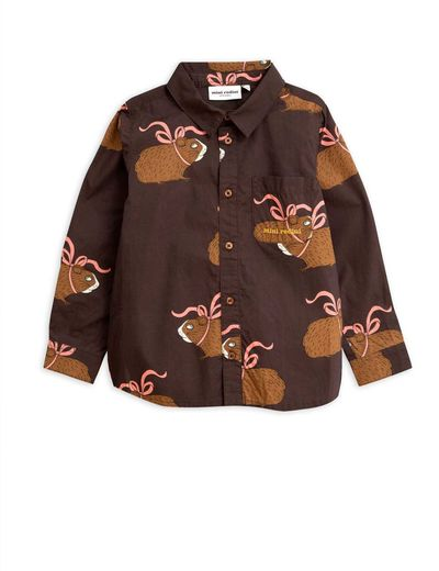 Mini Rodini - Posh guinea pig shirt, Brown