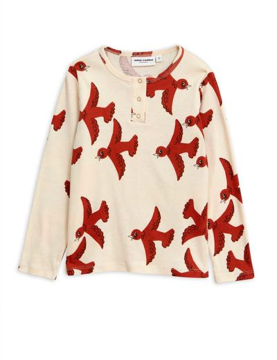 Mini Rodini - Flying birds grandpa, Offwhite