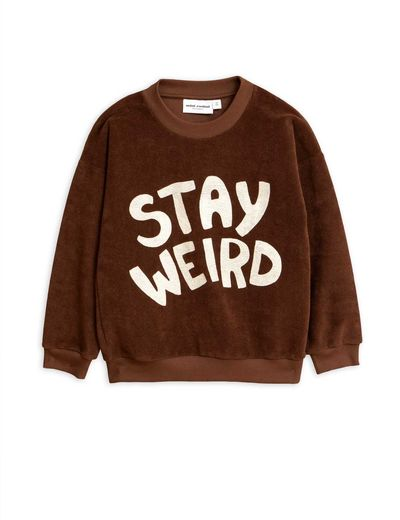 Mini Rodini - Stay weird sp terry sweatshirt, Brown