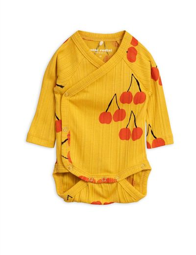 Mini Rodini - Cherry wrap body, yellow