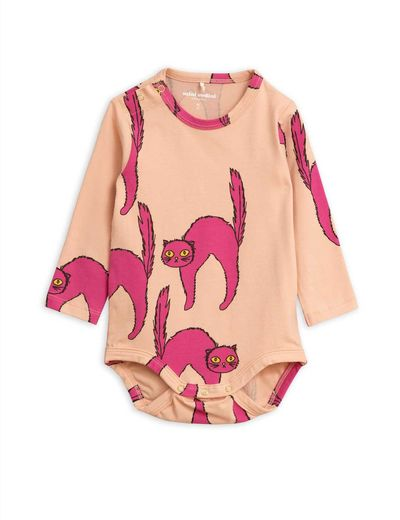 Mini Rodini - Catz ls body, Pink