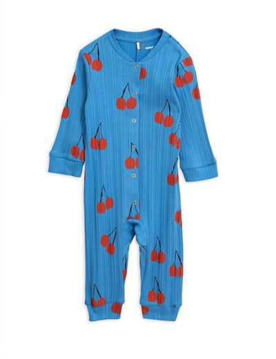 Mini Rodini - Cherry jumpsuit, Blue