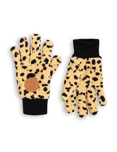 Mini Rodini - Fleece gloves, Beige