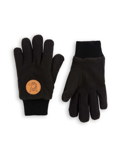 Mini Rodini - Fleece gloves, Black