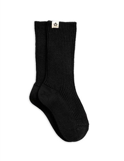 Mini Rodini - Wool sock, black