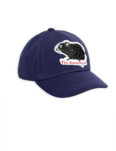 Mini Rodini - Guinea pig felt patch cap, navy
