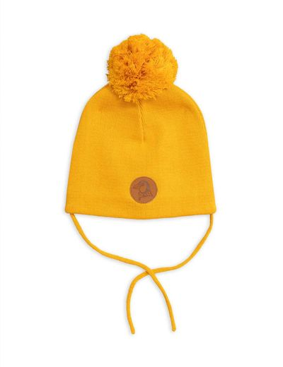 Mini Rodini - Penguin hat, Yellow