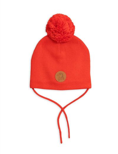Mini Rodini - Penguin hat, Red