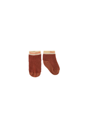 Tinycottons - FLUFFY QUARTER SOCKS, dark brown
