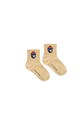 "BEAR"" MEDIUM SOCKS *sand/true navy*"