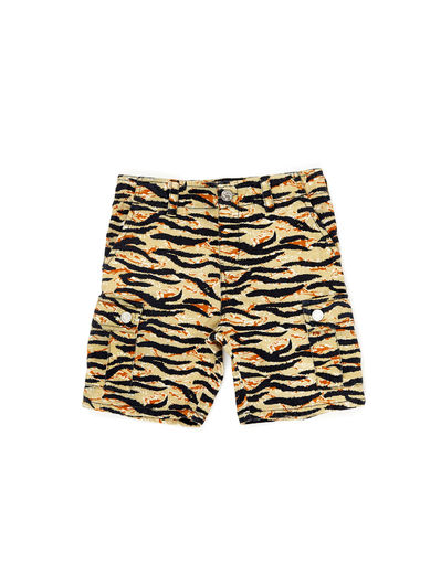 WILDKIND KIDS - BUCKY MILITARY SHORTS, Tiger camo