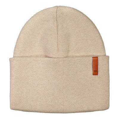 METSOLA - Knitted Beanie Rib Plain, Sand of Africa