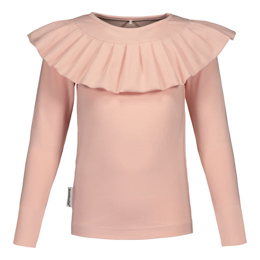 METSOLA - Frilla shirt LS, Rose Smoke