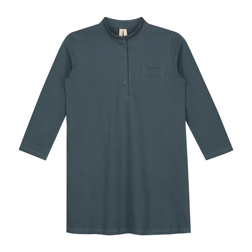 GRAY LABEL -  3/4 Long Beach Shirt, Blue Grey