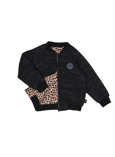 Huxbaby - Hux Reversible Padded Jacket, Black / Leopard