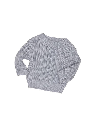 Huxbaby - Chunky Knit Jumper, Grey Marle