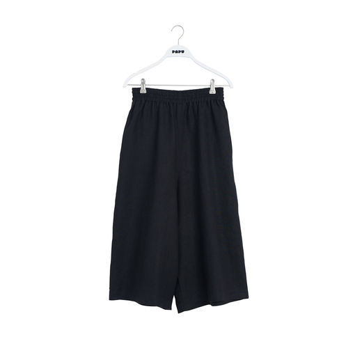 Papu - Woman LINEN CULOTTES Pants, Black