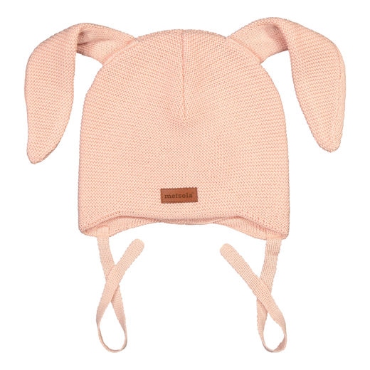 METSOLA - Knitted Bunny beanie, Rose Smoke
