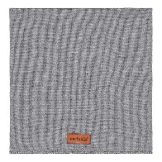 METSOLA - Cotton rib tube scarf, grey melange