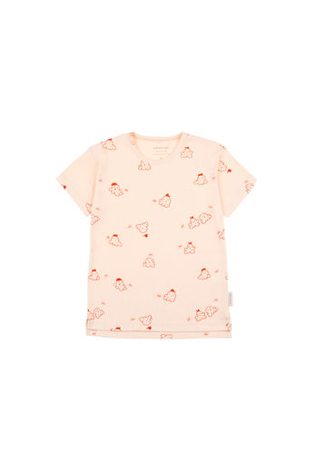 Tinycottons - POPCORN SS TEE, Cream / Red