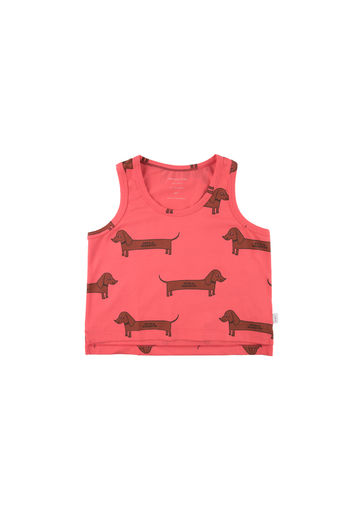 Tinycottons - IL BASSOTTO TANK TOP, red/dark brown