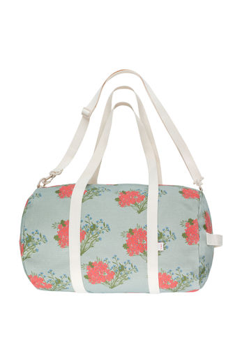 "Tinycottons - ""FLOWERS"" BARREL, sea green/red"