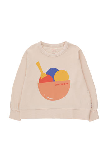 Tinycottons - ICE CREAM SWEATSHIRT, pastel pink/light papaya, SS21-185