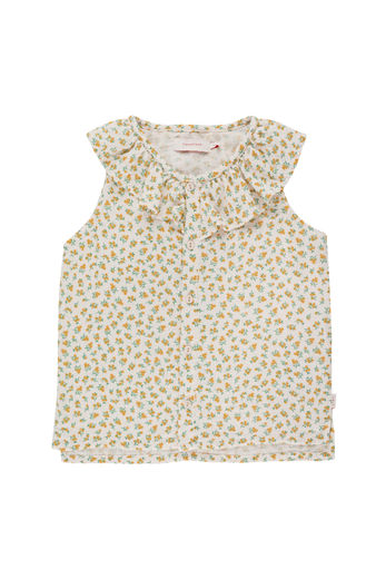 Tinycottons - SMALL FLOWERS BLOUSE, pastel pink / honey