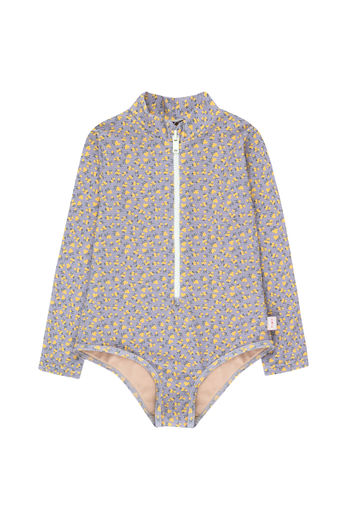 Tinycottons - SMALL FLOWERS LS ONE-PIECE summer grey / yellow