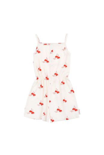 Tinycottons - 'CANDY APPLES' ROMPER  off-white/red