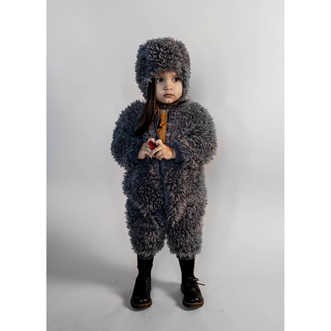 Beau LOves - Baby fur hat, grey