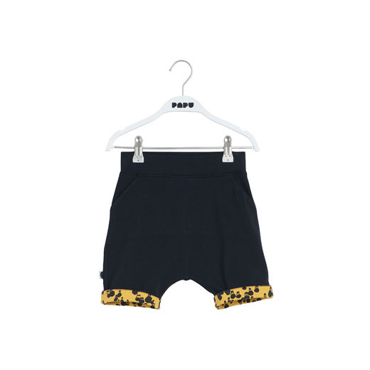 Papu - Pocket shorts Mini balloon, Black / fresh ochre
