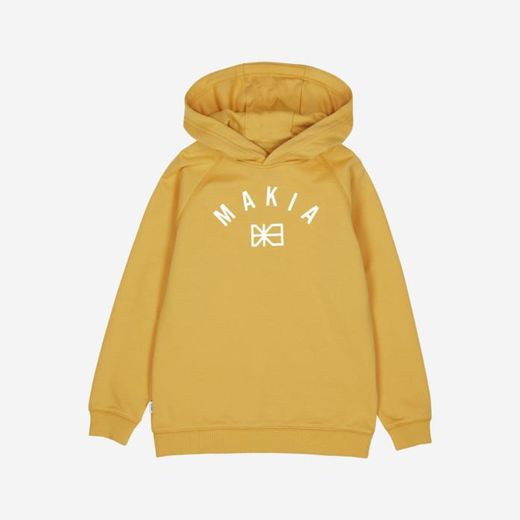 Makia - Brand Hooded Sweatshirt, ochre