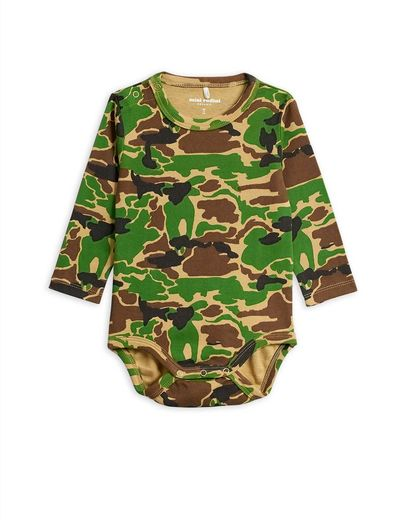 Mini Rodini - Camo ls body, green