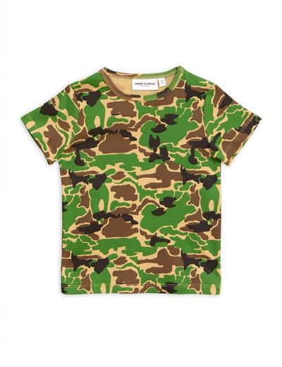 Mini Rodini - Camo ss tee, green
