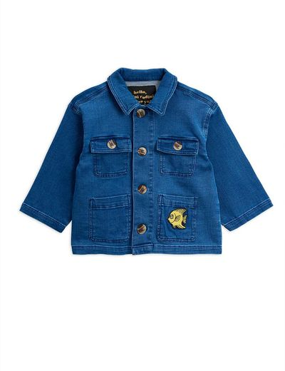 Mini Rodini - Denim safari jacket, blue
