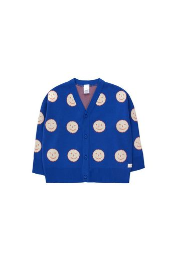 Tinycottons - 'HAPPY FACE' CARDIGAN  ultramarine/cream
