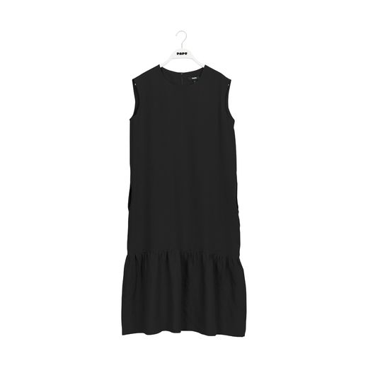 Papu - GATHER HEM DRESS, black
