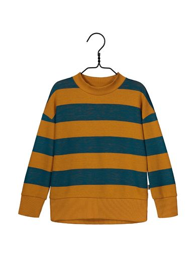 Mainio -  Harvest knit shirt, sudan brown/maroccan blue (40026)