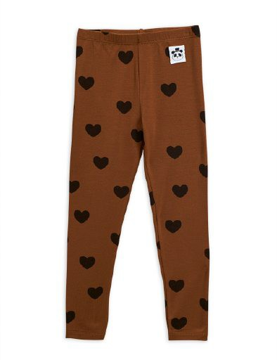 Mini Rodini - Hearts leggings, brown