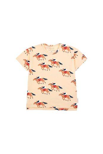 Tinycottons - 'HORSE FUN RUN' SS TEE  cream/brown